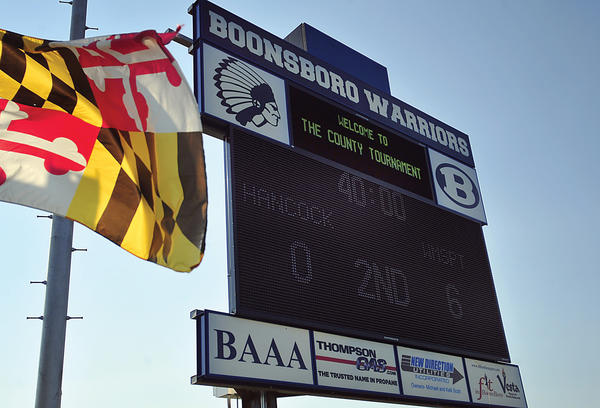 A new, wireless scoreboard has been installed at Boonsboro High School.