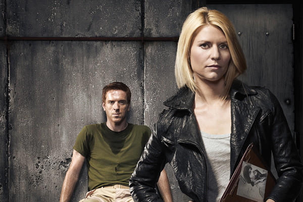 "Damian Lewis and Claire Danes of ""Homeland."""