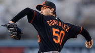 Miguel Gonzalez's long journey to the majors leads him to a pennant chase