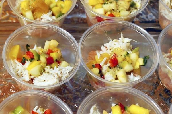 Bahama Breeze offered crab meat with mango salsa at the second annual Taste of Towson, on Sept. 20, held at the Towson American Legion Post 22 and hosted by the Towson Chamber of Commerce. The annual event featured food from more then 25 local restaurants.