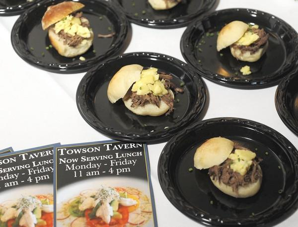 Towson Tavern offered pulled short rib sliders with Vermont cheddar cheese at the second annual Taste of Towson, on Sept. 20, at the Towson American Legion Post 22. The annual event featured food from more then 25 local restaurants.