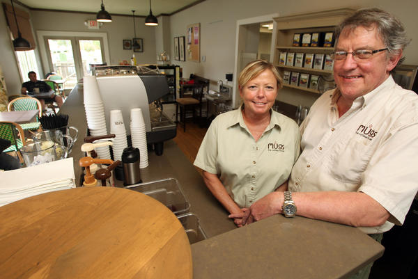 Judy and Tim Pierson are the owners of Mugs the Coffee House.