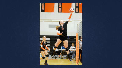 Somerset's Julie Barron smashed five aces against Westmont Thursday night.