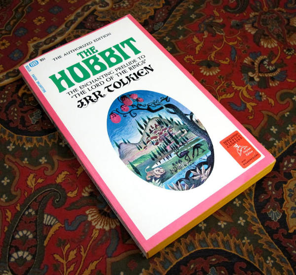 "The Tolkien Library, which is a resource for collectors as well as an online store, is selling this 1965 Ballantine paperback of ""The Hobbit"" for $125."