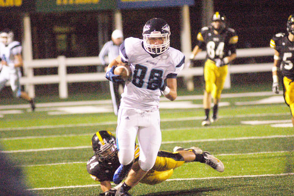 Petoskey senior tight end Logan Ackerman (88) and the Northmen will play host to Cheboygan, 3-1, today, Friday, in a non-league contest at Curtis Field. The Northmen, 2-2, are looking to snap a two-game losing skid.