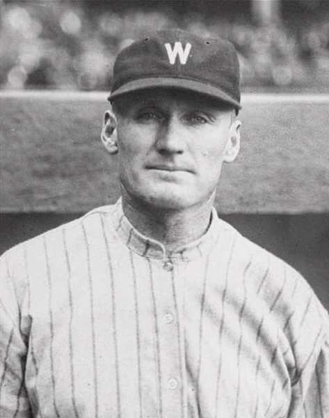This is a Sept. 26, 1924 photo showing Washington Senators pitcher Walter Johnson.
