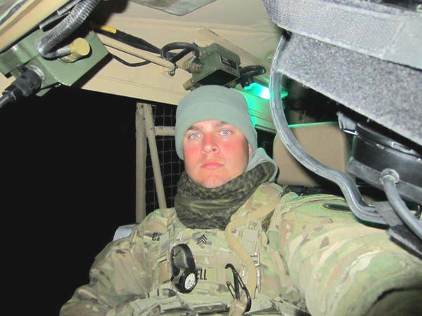 Army National Guard Sgt. Jeremy Cantrell sits in his assigned truck in Afghanistan. Sgt. Cantrell will return to Alanson on Sunday, Sept. 23. A welcome home gathering will line U.S. 31 beginning at 1:30 p.m. Sunday.