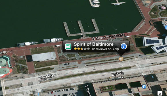 Apple Maps in Baltimore