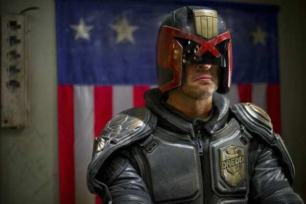 Karl Urban stars as 'Judge Dredd' in DREDD 3D.