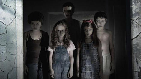 "OK, so we haven't seen ""Sinister"" yet (it opens Oct. 12), but these kids look pretty creepy to us. The film stars Ethan Hawke as a true-crime writer who discovers a batch of weird home videos that appear to show the deaths of his home's previous occupants. The culprit is apparently a demon who lives within images, hoping to possess the soul of any child unfortunate enough to look upon him."