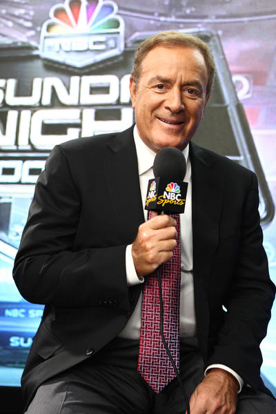 Al Michaels does play by play on NBC Sunday Night Football, prime-time TV's highest rated program.