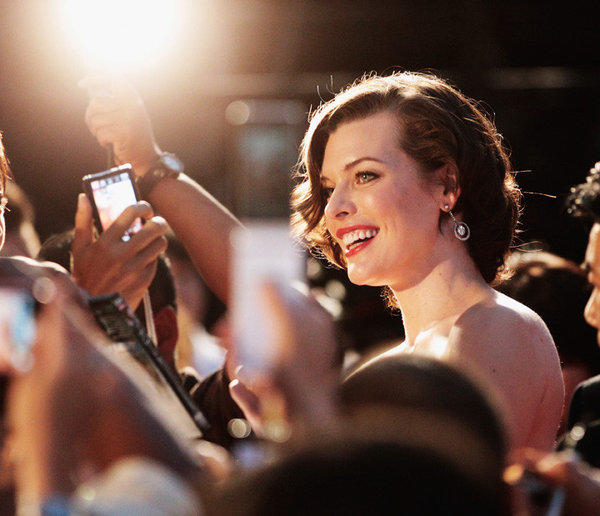 """Resident Evil"" actress Milla Jovovich arrives at the world premiere of ""Resident Evil: Retribution"" in Tokyo on Sept. 3, 2012."