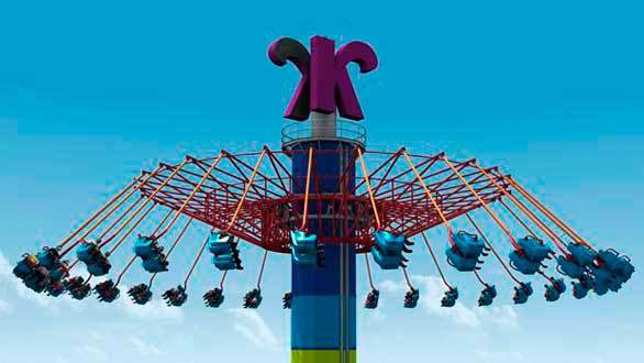 Photos: WindSeeker tower swing ride at Knott's Berry Farm and ...