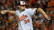 BOSTON -- Orioles right-hander Jason Hammel threw a brief side session from halfway up the mound before Friday's series opener against the Boston Red Sox, the first time he threw downward since coming out of his Sept. 11 start with pain in his surgically repaired right knee.