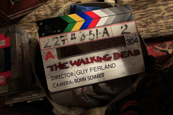 "On the set of the AMC zombie series ""The Walking Dead."""