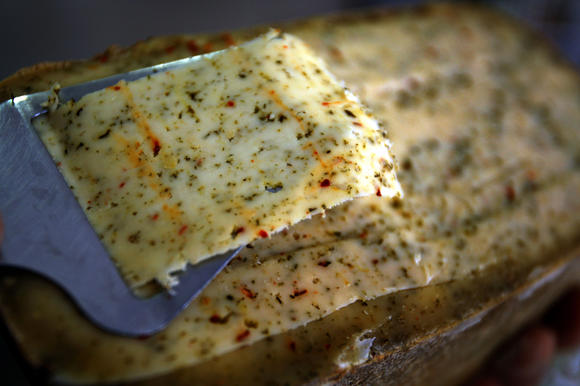 Gouda cheese made with herbs and spices