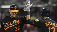 <strong>Catcher Matt Wieters had</strong> two more hits on Friday night and drove in three of the Orioles' four runs in the series-opening victory over the Boston Red Sox. In 17 games this month, he is 20 for 60 (.333) with five home runs and 17 RBI.