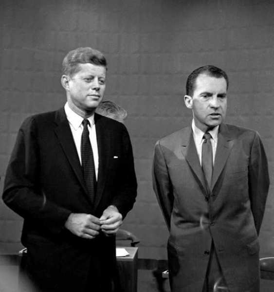 John F. Kennedy's and Richard Nixon's televised debates during the 1960 election campaign were the first ever for two presidential candidates.