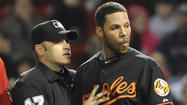 BOSTON -- After he was hit in the head in the ninth inning of Friday night's game, Orioles second baseman Robert Andino was out of the starting lineup for this afternoon's game.