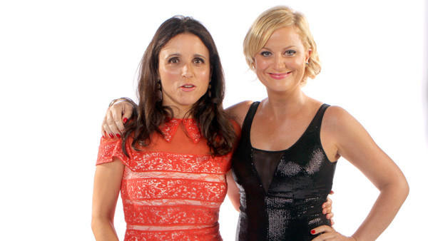 Outstanding lead actress in a comedy series nominees Julia Louis-Dreyfus, left, and Amy Poehler.