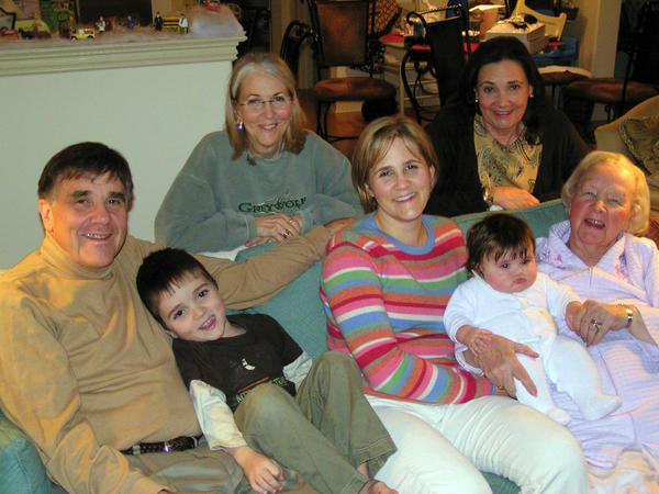 Family and relationships were important to Bill Higgins. This 2008 photo includes, from left, Bill, Connor Ryan, Susie Higgins, Amy Ryan holding Brynn Ryan, Marianne Rennie (in back row) and Peggy Fauver.
