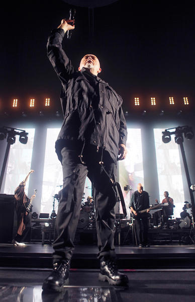 Peter Gabriel performs at the Wells Fargo Center in Philadelphia on Friday, Sept. 21.