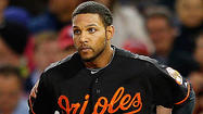 BOSTON — Orioles second baseman <strong>Robert Andino</strong>, who was hit in the left earflap of his batting helmet in the ninth inning of Friday night's game, didn't play Saturday because he was still waiting to pass a concussion test.