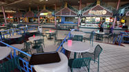 Food court almost empty at Lakewood Mall