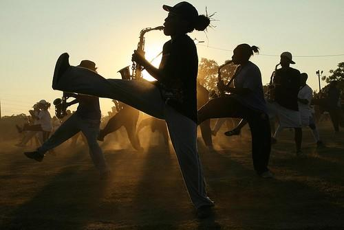 High-stepping FAMU marching band