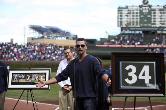Kerry Wood at Wrigley for Kerry Wood Appreciation Day.