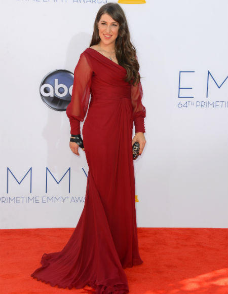 Emmys 2012 red carpet arrival pictures: Mayim Bialik, The Big Bang Theory