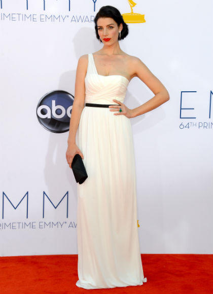 Emmys 2012 red carpet arrival pictures: Jessica Pare, Mad Men
