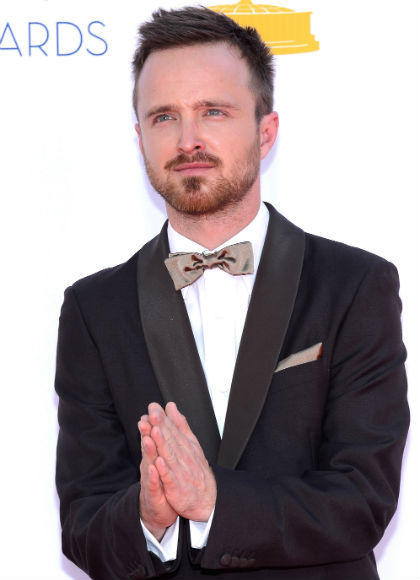 Emmys 2012 red carpet arrival pictures: Aaron Paul, Breaking Bad