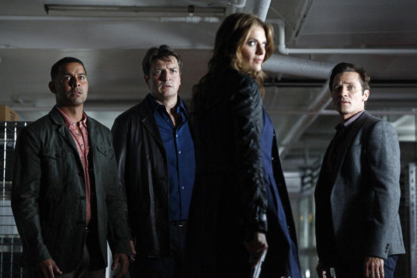 <i>9 p.m. Sept. 24, ABC</i> <br>Beckett quit the NYPD to track Cole Maddox, who came very close to killing her. Oh, Castle and Beckett finally ended up sleeping together. Well, not sleeping. Season 5 picks up the morning after. <br>Pictured: Jon Huertas, Nathan Fillion, Stana Katic, Seamus Dever