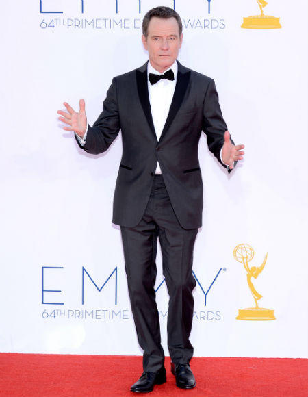 Emmys 2012 red carpet arrival pictures: Bryan Cranston, Breaking Bad