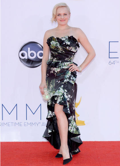 Emmys 2012 red carpet arrival pictures: Elisabeth Moss, Mad Men