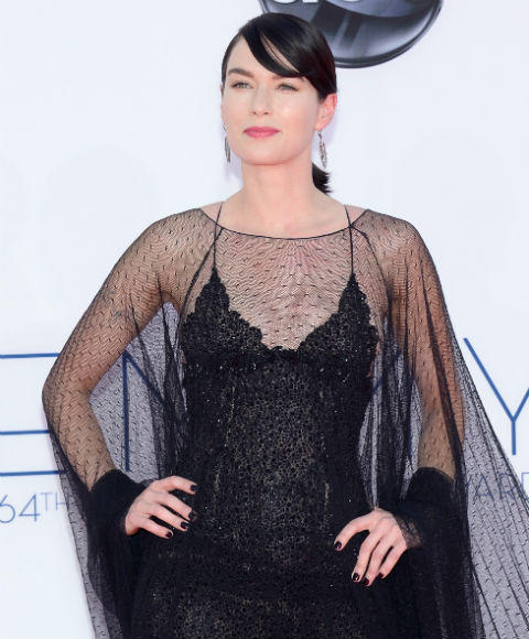 Emmys 2012 red carpet arrival pictures: Lena Headey, Game of Thrones