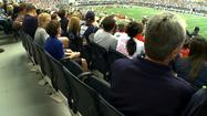 Thousands packed in to Cowboys Stadium Sunday afternoon for the season's home opener. They were greeted with a little more elbow room than you might expect.