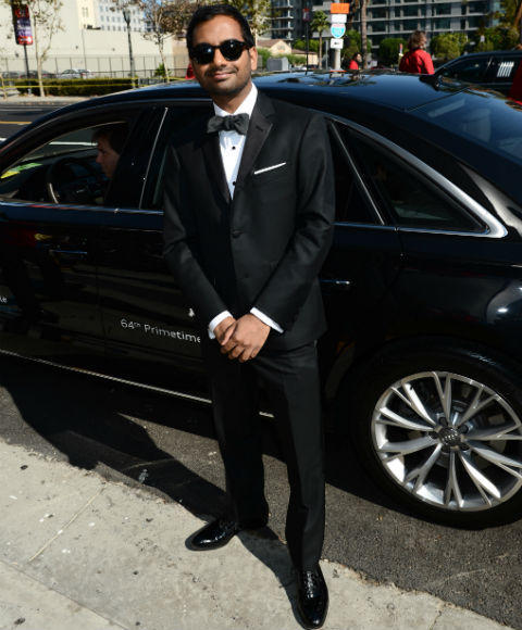 Emmys 2012 red carpet arrival pictures: Aziz Ansari, Parks and Recreation