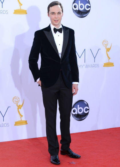 Emmys 2012 red carpet arrival pictures: Jim Parsons, The Big Bang Theory