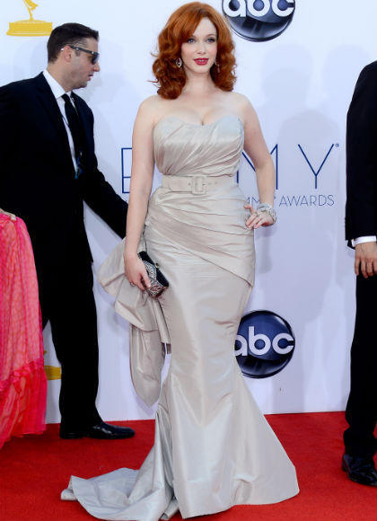 Emmys 2012 red carpet arrival pictures: Christina Hendricks, Mad Men