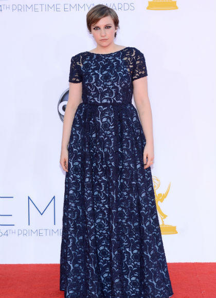 Emmys 2012 red carpet arrival pictures: Lena Dunham, Girls
