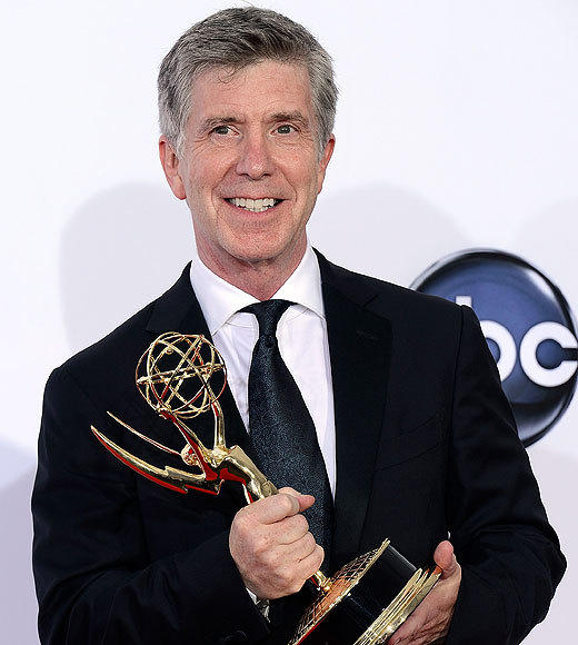 2012 Primetime Emmy winners and nominees: Phil Keoghan, The Amazing Race Ryan Seacrest, American Idol Betty White, Betty Whites Off Their Rockers Tom Bergeron, Dancing With the Stars  Cat Deeley, So You Think You Can Dance
