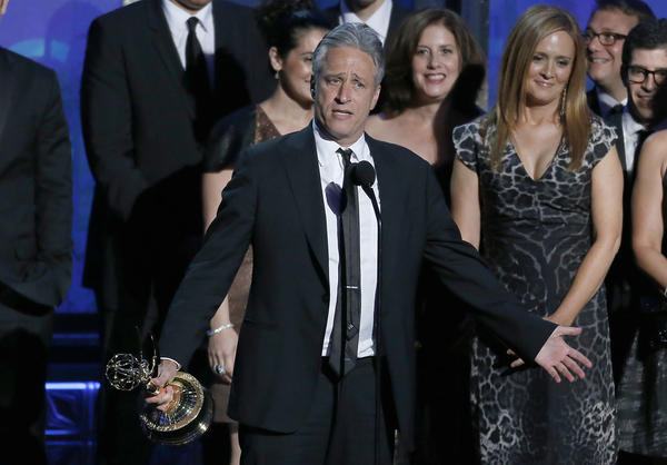 "Jon Stewart probably won't be winning another Emmy for ""The Daily Show"" after simultaneously dropping an F-bomb and ripping the taste of Emmy voters with his acceptance speech for variety series. Though don't expect Bill Maher to benefit. He's been nominated 28 times and has lost them all. <style type=""text/css"">