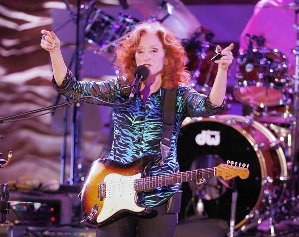 Bonnie Raitt performs at the Greek Theatre.