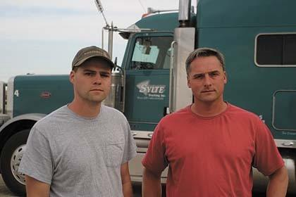 Jason, left, and Chris Sylte of Ipswich are involved in production agriculture, transportation and rental properties.