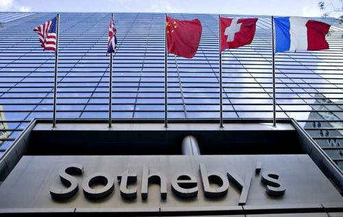 Sotheby's in New York. The auction house has entered into a joint venture to expand its presence in China.