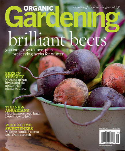 Organic Gardening magazine features beets and more in its October-November issue.