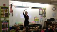 First grade students at Union Elementary School in Zionsville got a quick lesson on broadcast meteorology Monday.  All four classes joined in on the presentation and the kids were full of great questions and also actively participated in the discussion.  Here's a look at the whole group!