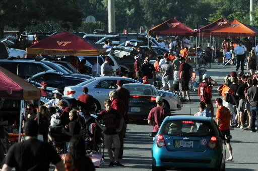 Virginia Tech tailgate at FedEx Field for Boise State